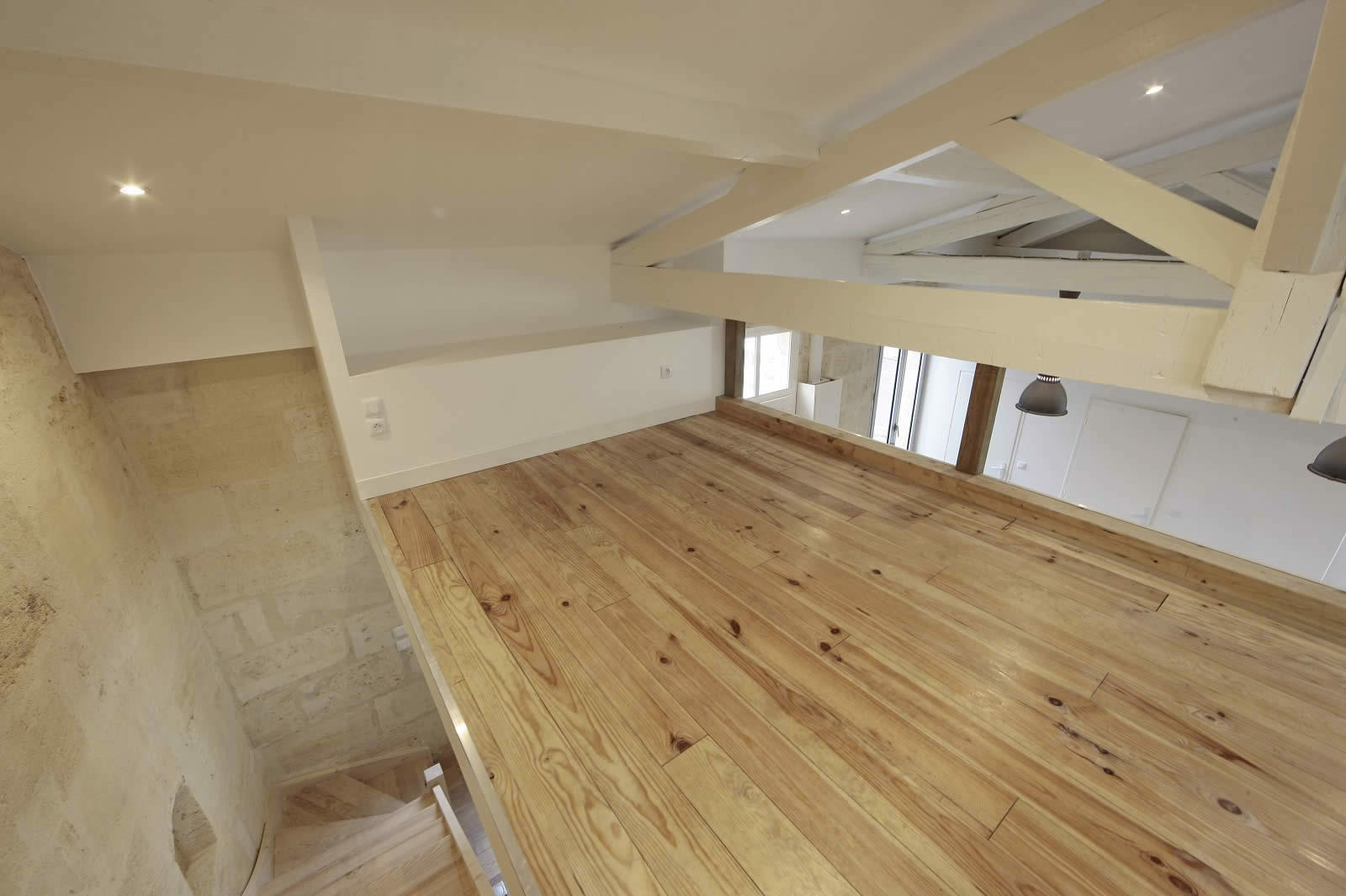 Renovate Kitchen Renovate House With Parquet Floors Exposed Beams And Open