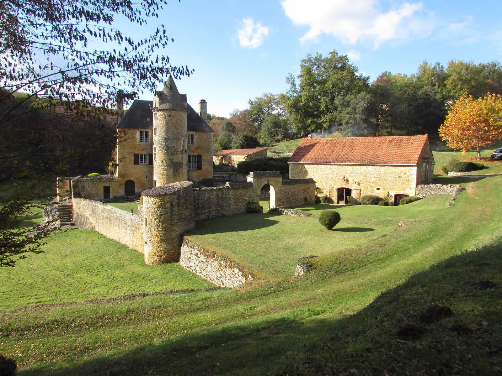 Authentic Chateau with Stone Fireplace and 11 Hectares of ...
