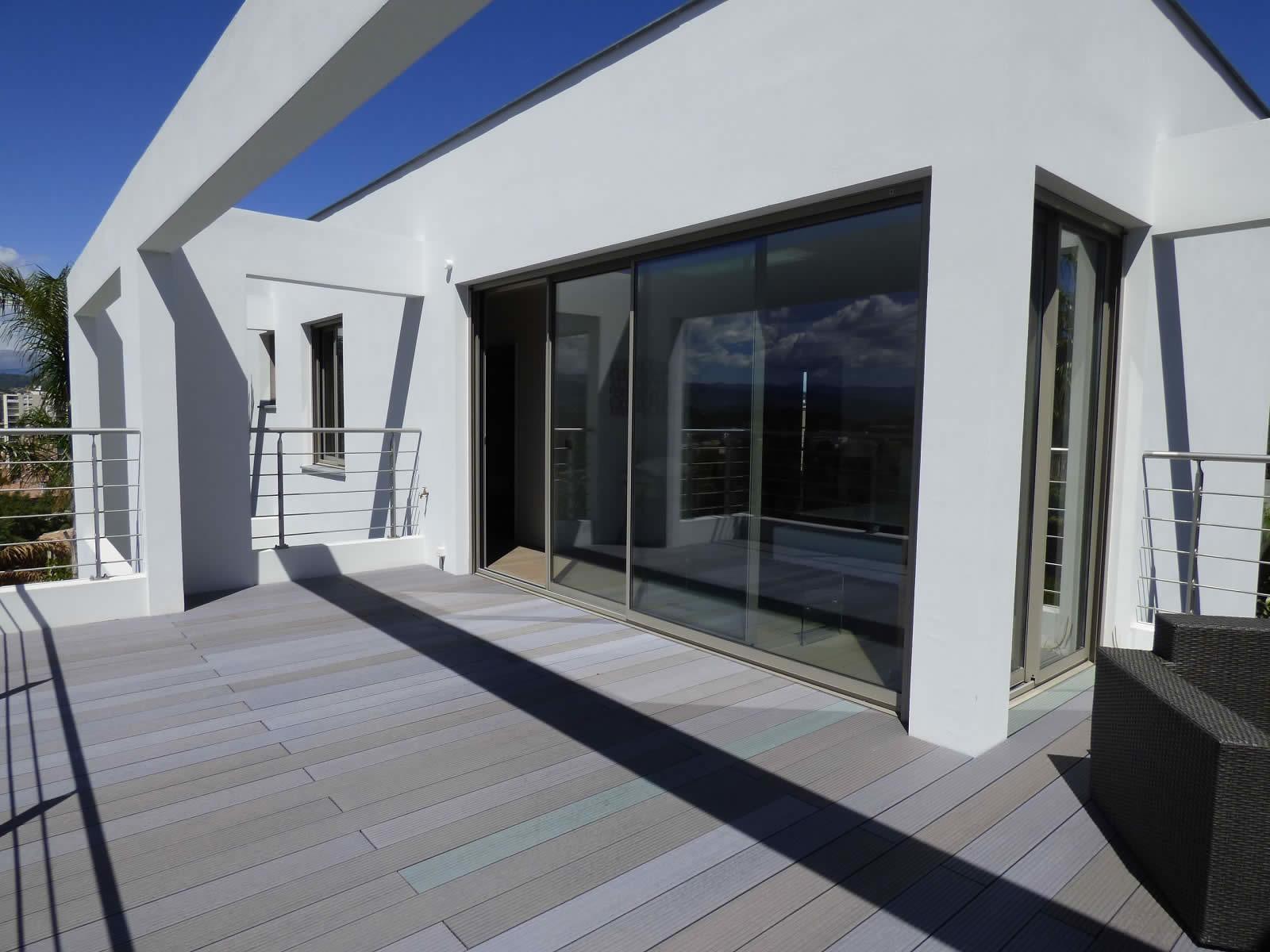Photo facade villa moderne faade arrire with photo facade - Facade de maison moderne ...