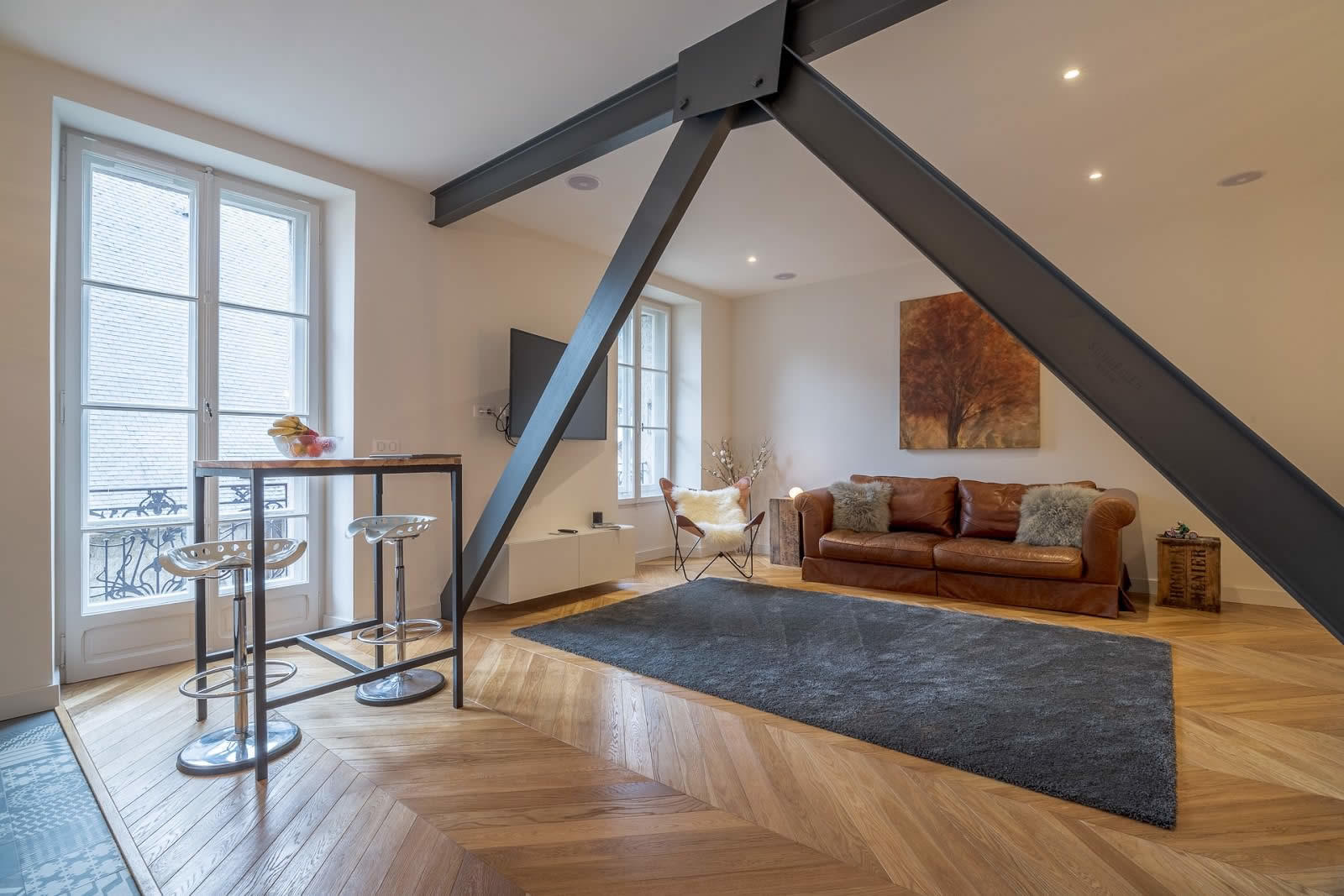 appartement-a-vendre-cuisine-ouverte-vue-montagne