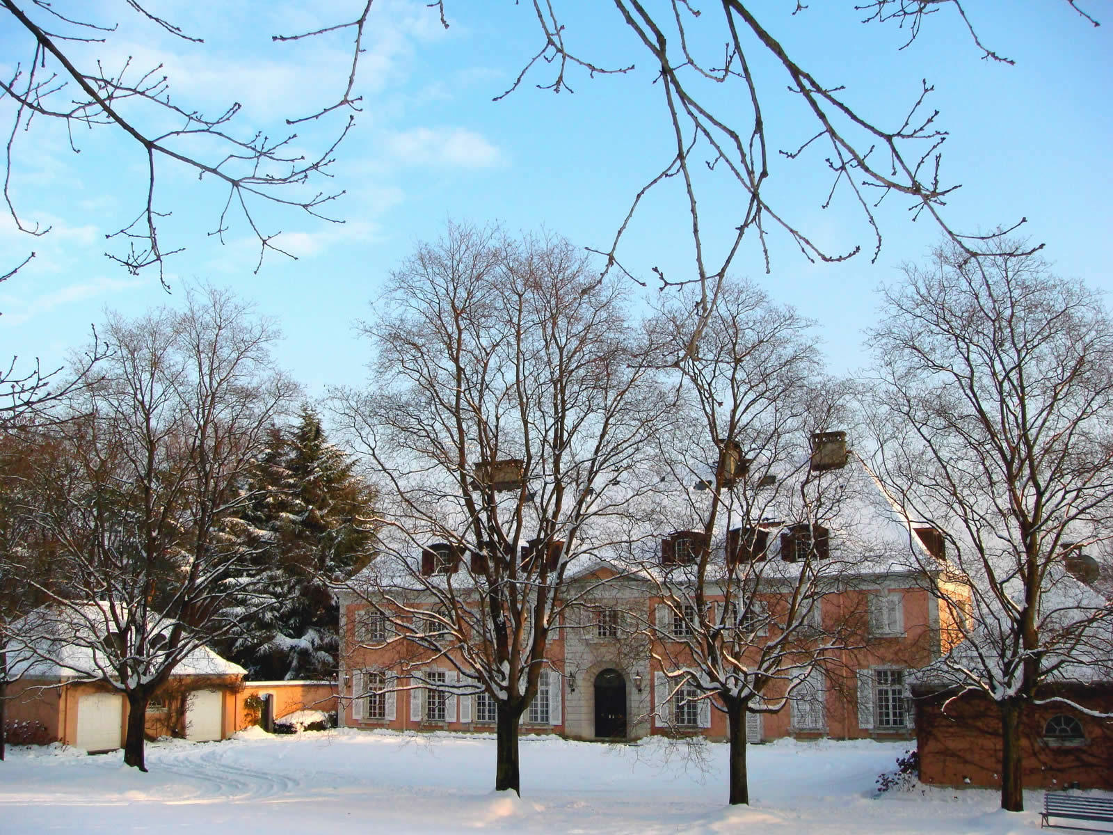 master property in the countryside with 6 hectare park fireplace