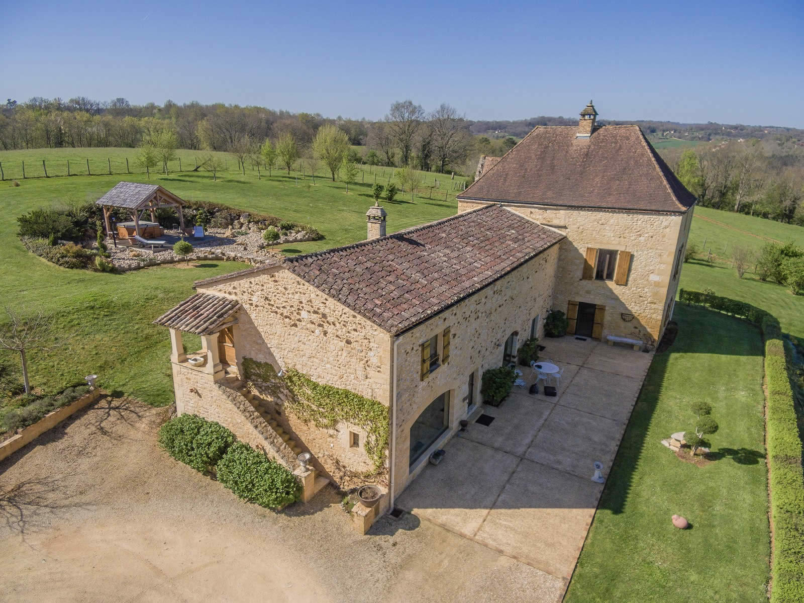 Renovated Property For Sale In Domme Perigord View Of
