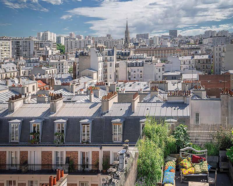le perchoir in paris bohemian chic restaurant and rooftop bar. Black Bedroom Furniture Sets. Home Design Ideas