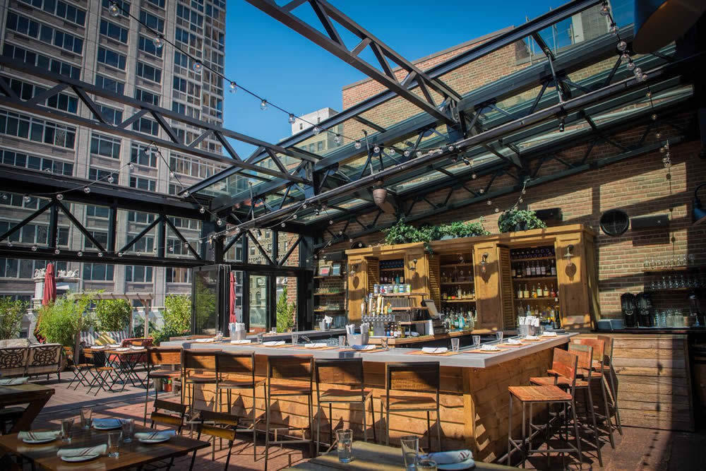 Refinery Rooftop Bar, New York: Rooftop lounge-bar with ...
