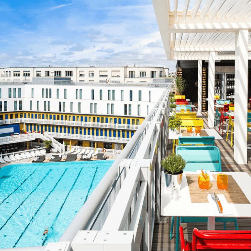 The club molitor in paris private spa swimming pool and for Club piscine st jerome telephone