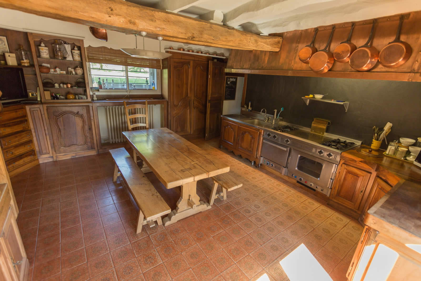 house with character for sale in durbans périgord fireplace