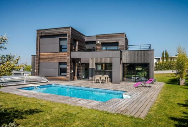 Villa d architecte avec piscine vendre thonon les for Piscine chantilly