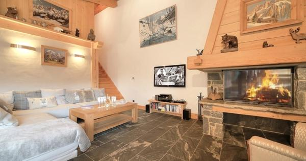 demi-chalet-for-sale-prariand-terrace-basement-garage-view-mont-blanc