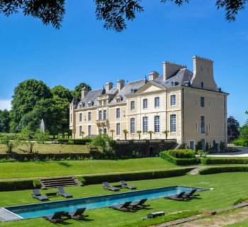 beautifully-renovated-chateau-hotel-for-sale-caen-normandy-region-indoor-outdoor-swimming-pool-spa-terraces-hunting-lodge