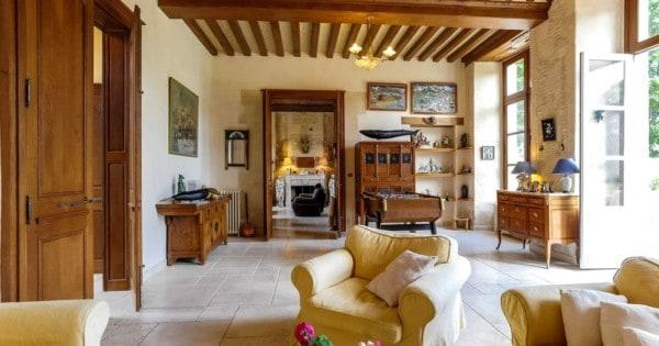 superb-17th-century-stone-house-renovated-for-sale-fireplace-garages-barn-swimming-pool