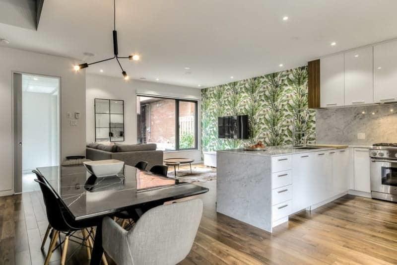 Green Shiny Kitchen Floor