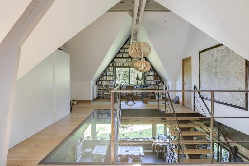 ravissante-maison-normande-piscine-a-vendre-pont-leveque-jacuzzi-cheminee-verriere-atelier