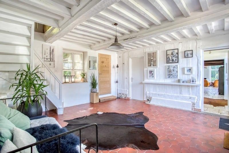 renovated-presbytery-for-sale-honfleur-fireplace-garden-swimming-pool